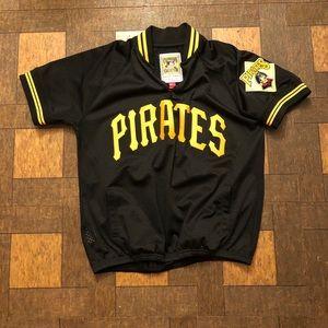 Men's MLB Mitchell & Ness Pirates Zip Up Jersey